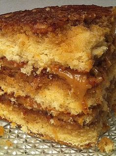 Another Pinner says~Pecan Pie Cake  Ok people, you've been warned!  This cake will make a grown man drop to his knees, birds will sing, and you'll experience a party in your mouth.  I'm tellin' you, this cake is good enough to make you sass your grandma (and we all know you won't get away with that without some serious discipline from your mama, right?)