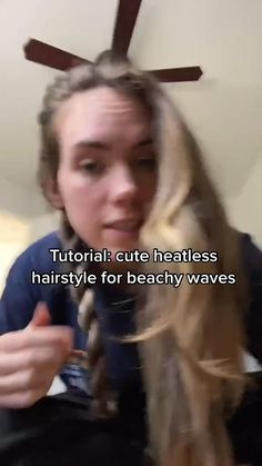 Heatless Hairstyles, Easy Hairstyles For Long Hair, Summer Hairstyles, Teen Hairstyles, Hairdos, Hairstyle Ideas, Corte Y Color, Look Girl, Aesthetic Hair