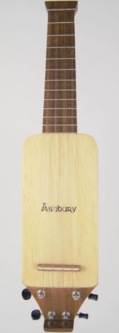 "My Ashbury ""Lonely Player"" headless travel Soprano Ukulele --- https://www.pinterest.com/lardyfatboy/"