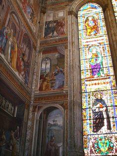 Cappella Tornabuoni - Basilica di Santa Maria Novella, Firenze - affreschi di DOMENICO, il GHIRLANDAIO - 1486-90