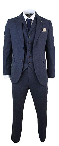 See our range of Mens Tweed Suits for sale. From modern slim-fit suits to classic Harris tweed three piece suit, delivered UK. Buy mens tweed suits, because some things never go out of fashion. Blue Tweed Suit, 3 Piece Tweed Suit, Mens Tweed Suit, Mens 3 Piece Suits, Tweed Waistcoat, Tweed Suits, Mens Suits, Mens Wedding Suits Navy, Vintage Wedding Suits