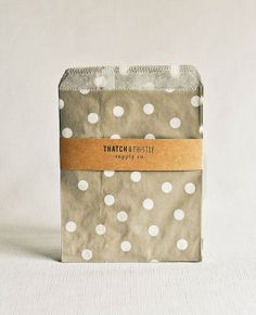 Hey, I found this really awesome Etsy listing at http://www.etsy.com/listing/153311694/paper-bags-in-gray-polka-dots-set-of-20
