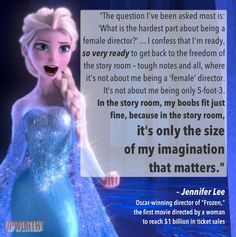 The Director Of 'Frozen' Explains Why She's Tired Of Being Asked Boring Questions About Her Gender