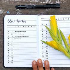 Minimalist bullet journal, sleep log. @mrs_james_potter