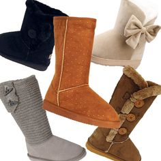 Cute Boots for Teens | boots gray sweater boots chestnut faux suede boots bow accent boots ...