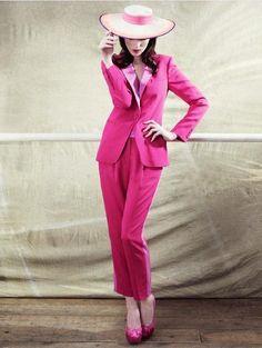 Hot pink tailoring