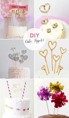 18 DIY cake topper ideas | 18 DIY kakkukoristetta :: Best Day Ever