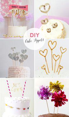 18 DIY cake topper ideas   18 DIY kakkukoristetta :: Best Day Ever