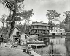 New item in my etsy shopSilver Springs Florida c1900 Okeehumkee at wharf on the Oklawaha River copy of vintage photograph by PanchromaticaDesigns. Find it here http://ift.tt/224z15g