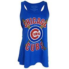 Get this Chicago Cubs Ladies Cross Bats Tank Top at WrigleyvilleSports.com