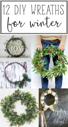 Such much inspiration for simple DIY wreaths for Christmas, winter and the holidays. Mostly farmhouse-style DIY wreaths with a ton of holiday charm.