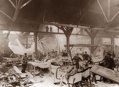 Construction of the Statue of Liberty in Bartholdi's studio, Paris, 1882-1883