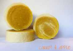 These sweet little rounds of milk soap not only leave your skin conditioned and sweet smelling, but the freshly pureed carrots and apples provide valuable nutrients like vitamins A, C, D, K, and most importantly, carotene! https://www.facebook.com/3littleEs