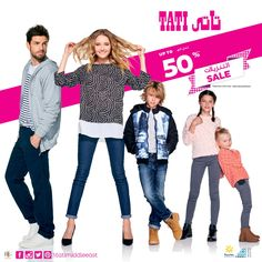 It's SALE - 50% Off on selected items at TATI! Hurry whilst stocks last! Check us out @ Mecca Mall -Ground Floor & Abdali Mall -2nd Floor!  Tel:06582 5457  #TATI #tatimiddleeast #Sale #offer #50 % #Off #discount #promotion #nowopen #meccamall #Abdalimall #Amman #jordan #new #fashion #destination #woman #man #kids #home #shoes #accessories #btcfashion