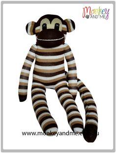 Milo the Sock Monkey  Adopt over at http://monkeyandme.com.au #sockmonkeys #gifts #toys
