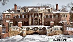 Beautiful Mansion at Christmas!
