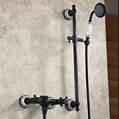 Hiendure ®Wandhalterung Wanne Dusche Wasserhahn, Mischbatterie, Mit  Handbrause, Öl Eingerieben Bronze