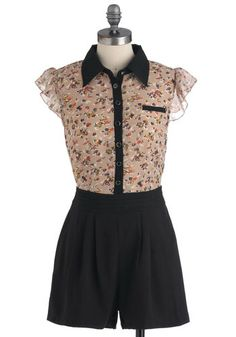 Standing Bloom Only Romper, #ModCloth This is one of my favorite modcloth things. I mean, picture me going to tap class in this!!! How cute would that be!!