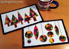 Patchwork Christmas Mug Rugs | Craftsy