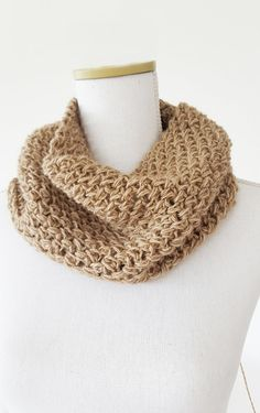Natural Wheat Scarf Crochet Winter Light Scarf by ScentOfSpices