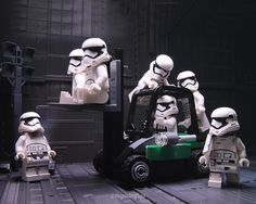 NO BOSS means FOOLING AROUND!!! Who have guessed this would happen if the troopers are left alone in the Death Star? . #lego #legophotography #3of3 #phasma #kyloren #legostarwars #stormtroopers #tcb_babygzilla