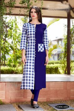 Bulk Supplier Of Kurtis Printed Kurti Designs, Simple Kurti Designs, Salwar Designs, Kurti Designs Long, Dress Neck Designs, Blouse Designs, Indian Designer Suits, Designer Kurtis, Kurta Patterns