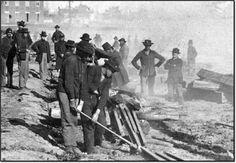 Civil War - laying railroad tracks