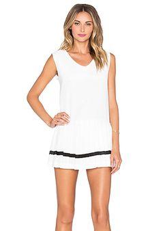 J.O.A. Pleated Skirt Dress in White | REVOLVE