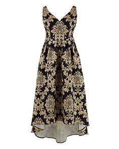 Chi Chi Plunge Jacquard Dress | Simply Be