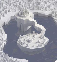 ArtStation - Paper castle, Mohamed Chahin