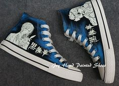Glow in the Dark Shoes Black Butler Anime by CustomShoesJoy