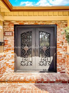 We know that your house is more than a home, it's an expression of who you are and what you love. So let us help you express yourself with our wrought iron doors! 💡 About this design: Custom Iron Door ☎️️ 877-205-9418 🌐 www.iwantthatdoor.com