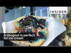 A doughnut is the perfect pocket for ice cream - YouTube