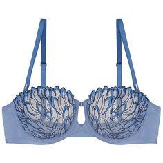 Triumph Elusive Essence Balconette Bra ($98) ❤ liked on Polyvore featuring intimates, bras, lingerie bras, balconette bra, shelf bra and balcony bra