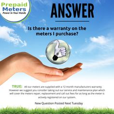 Question 19: Is there a warranty on the meters I Purchase?