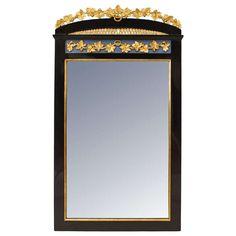 Gilt Trimmed and Ebonized Biedermeier Wall Mirror, c.1830   1stdibs.com