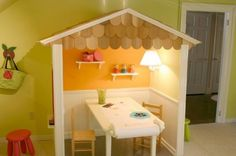 Fun House: 7 Amazing Ideas for Your Kid's Playroom - Yahoo Shine Toddler Playroom, Toddler Rooms, Playroom Ideas, Playroom Design, Small Playroom, Playroom Table, Toddler Playground, Kids Rooms, Daycare Design