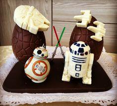 Mona de chocolate Bb8 y R2-D2, Star wars. Mona de xocolata David 2016