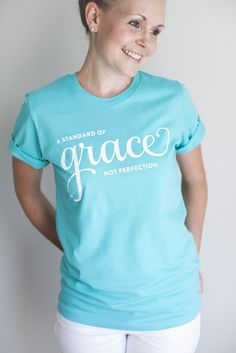 A standard of grace. Soft tee by Emily Ley. $18 / Modeled by Ashlee Proffitt. http://pict.com/p/5i
