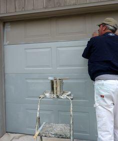 DIY Project: Overhead Garage Door Re-Paint   DIY Home Staging Tips
