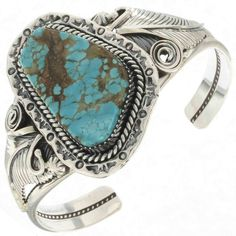 Turquoise Handmade Cuff Navajo Silver BraceletSKU: This Turquoise Handmade Cuff was made using the best free-form, Nevada stone we could Silver Cuff, Sterling Silver Bracelets, Silver Earrings, Turquoise Jewelry, Turquoise Bracelet, Bracelet Display, Thing 1, Ankle Bracelets, Cute Jewelry