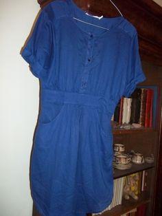 Robe courte BERENICE Bleu, bleu marine, bleu turquoise