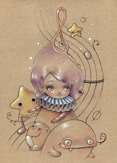 drawings by Ania Tomicka, via Behance