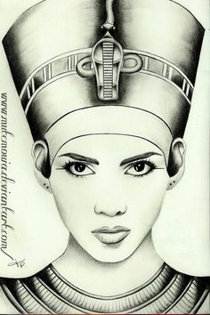 Queen Nefertiti by *Mutemouia on deviantART Isis digital art drawing egyptian goddess Egyptian Queen Tattoos, Egyptian Beauty, Egyptian Goddess, Egyptian Art, Egyptian Mythology, Egyptian Women, African American Art, African Art, Cleopatra