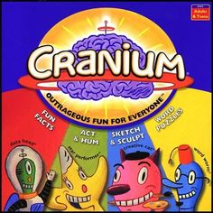 Not sure what game to play because you like them all. Play cranium and you'll be acting, drawing, thinking of words, .all in one spot. Family Game Night, Family Games, Fun Games, Games To Play, Cranium Board Game, Puzzle Board Games, Instant Win Sweepstakes, Traditional Games, Brain Games