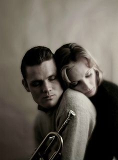 Chet Baker and Wally Coover, 1959. Photo by Melvin Sokolsky.