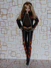 Takara Doll - S Club Sayuri Dressed in Barbie Harley Davidson Outfit (sylvia1sam) Tags: anime doll dolls body jenny takara saj puppe animeeyes