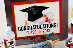 High School Graduation Centerpieces | If you use these printables at your graduation party, please add it to ...