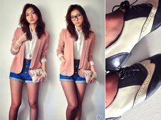 New Look Oxfords, Gmarket Korea Nude Pink Blazer