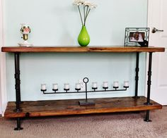 Console Table Sofa Table Reclaimed Wood by SilverRidgeWoodworks